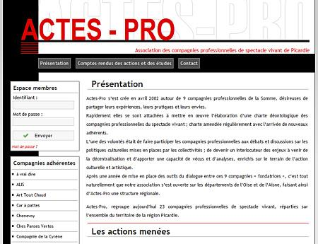 Cration du site Actes Pro