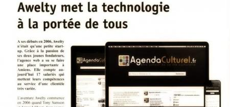 Awelty et un article dans la Gazette Picarde