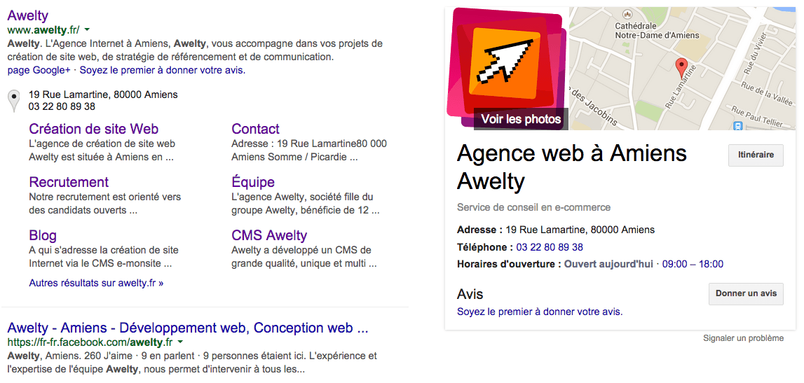 Awelty sur Google My Business