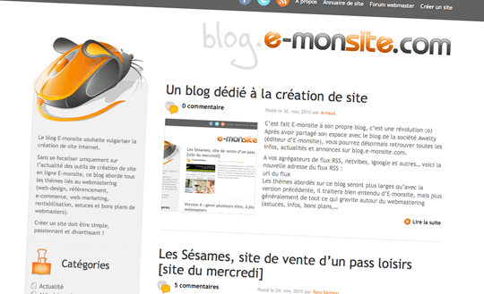 Blog creation site 1