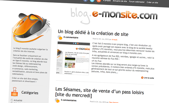 Nouveau Blog E-monsite