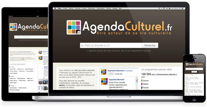 Sortie d&#039;Agenda Culturel en version responsive !