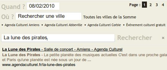 Un moteur de recherche pour Agenda Culturel