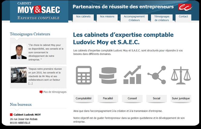 capture du site Moy et SAEC