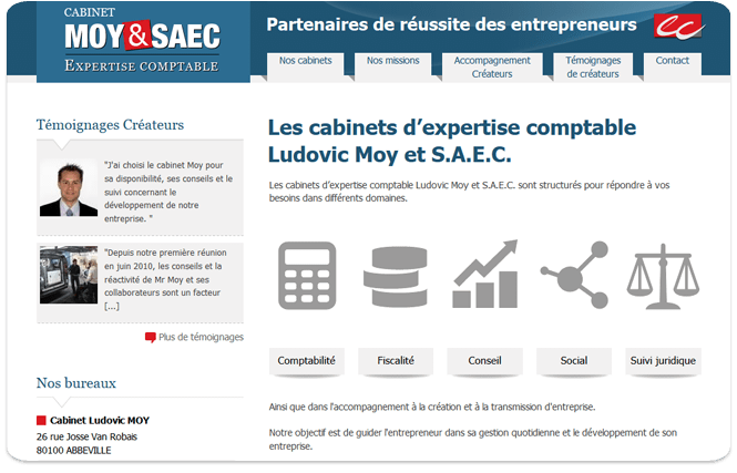 Une nouvelle cration de site : le cabinet d&#039;expertise comptable Moy et SAEC