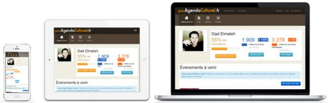 Espace Pro d'Agenda Culturel : version responsive disponible !