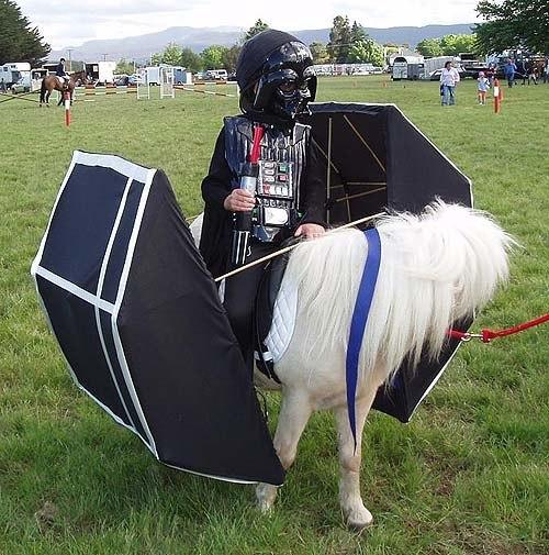 Darth vader horse
