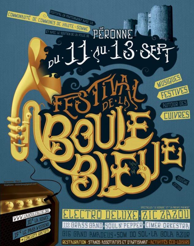 Affiche Festival de La Boule Bleue 2015