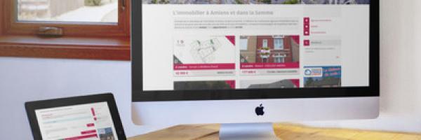 Responsive design site web immo80