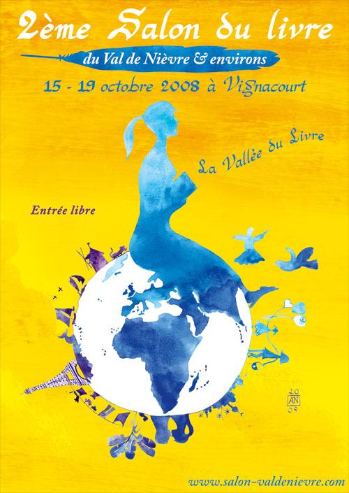 Brochure pour le deuxime salon du livre du Val de Nivre