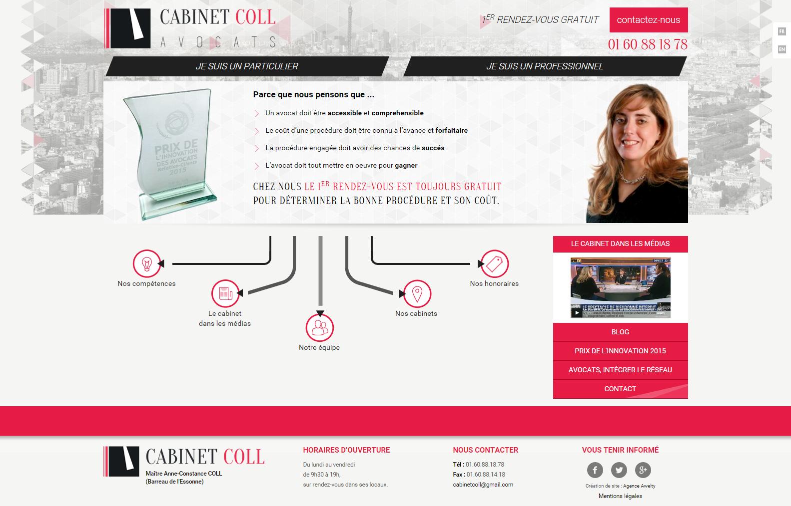 Site cabinet coll