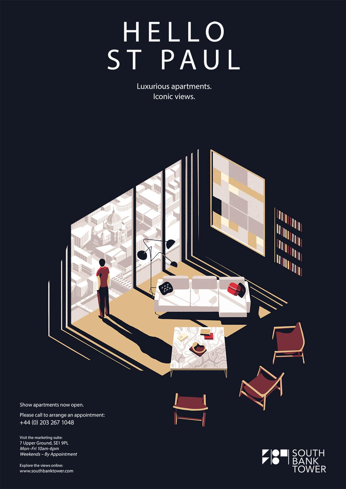 Affiche design isometrique