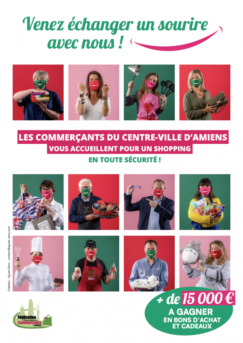 Affiche operation sourire federation commercants amiens