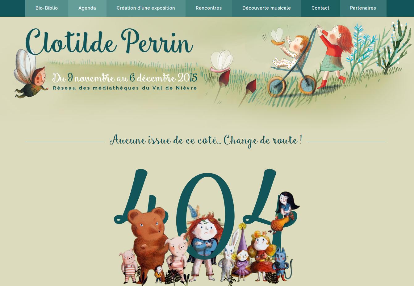 Page 404 originale de le résidence de Clotilde Perrin