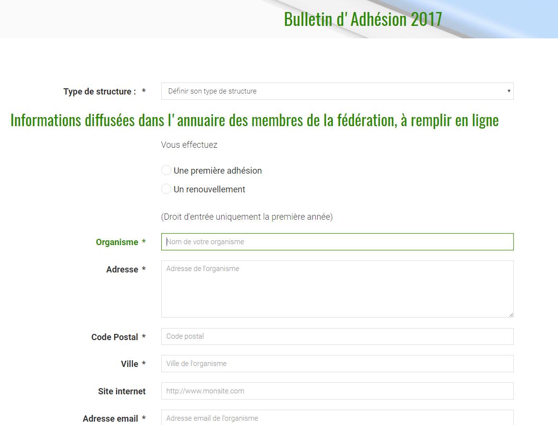 Bulletin d'adhésion à Newernertech