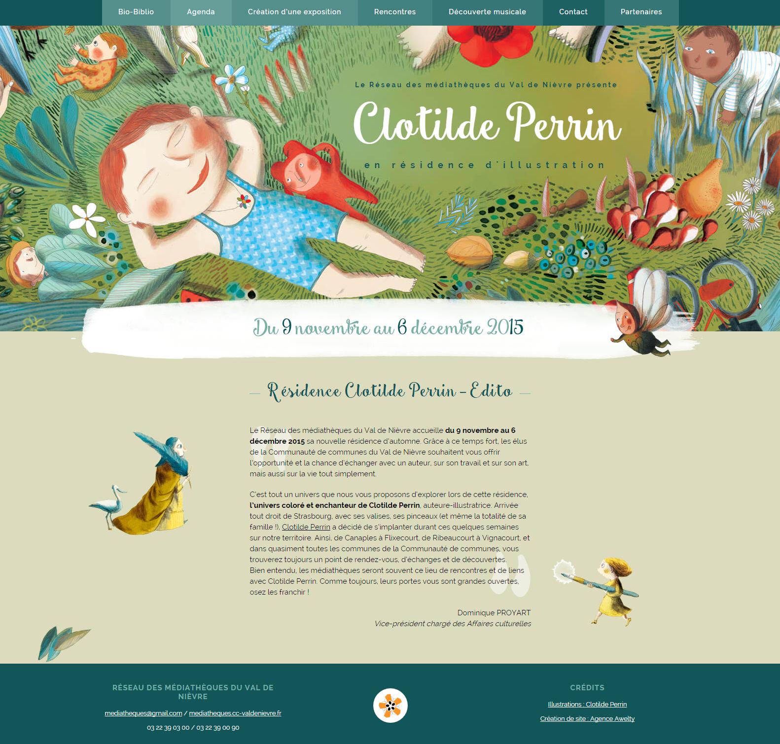 Clotilde Perrin illustratrice en residence