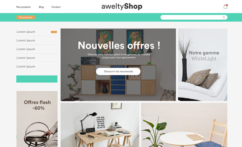 Design PrestaShop sur mesure