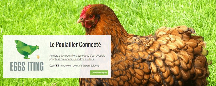 Eggs iting : le poulailler connecté amiénois