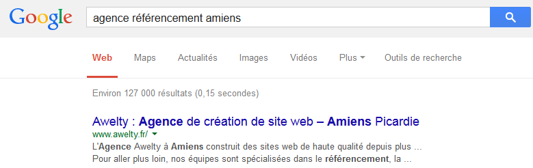 Google agence referencement amiens