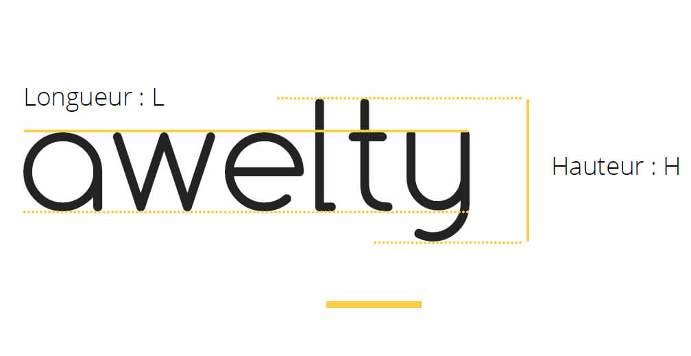 Illustration logotype awelty