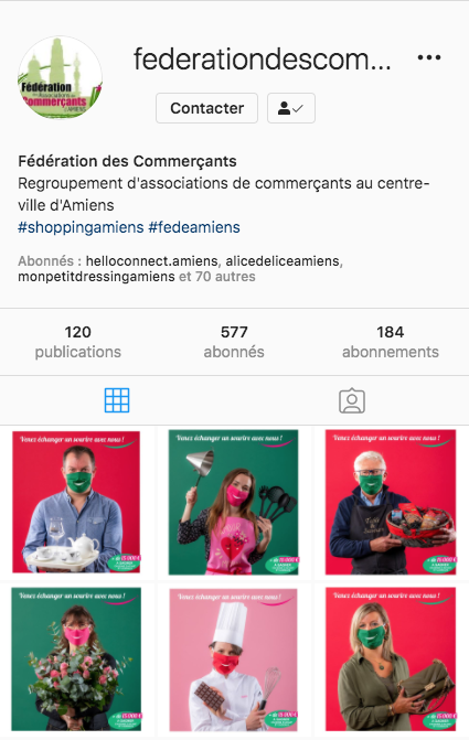 Instagram operation sourire federation commercants amiens 3