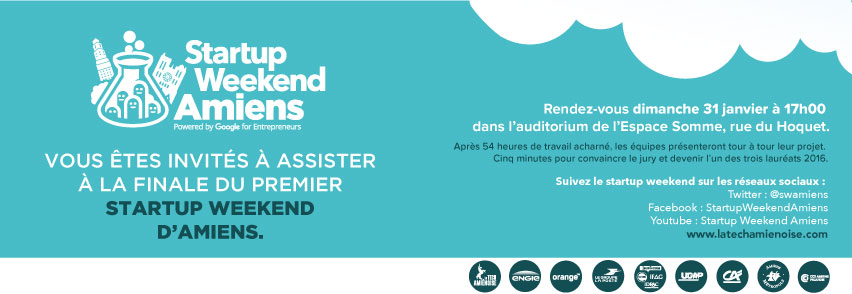 Invitation public Startup Weekend Amiens
