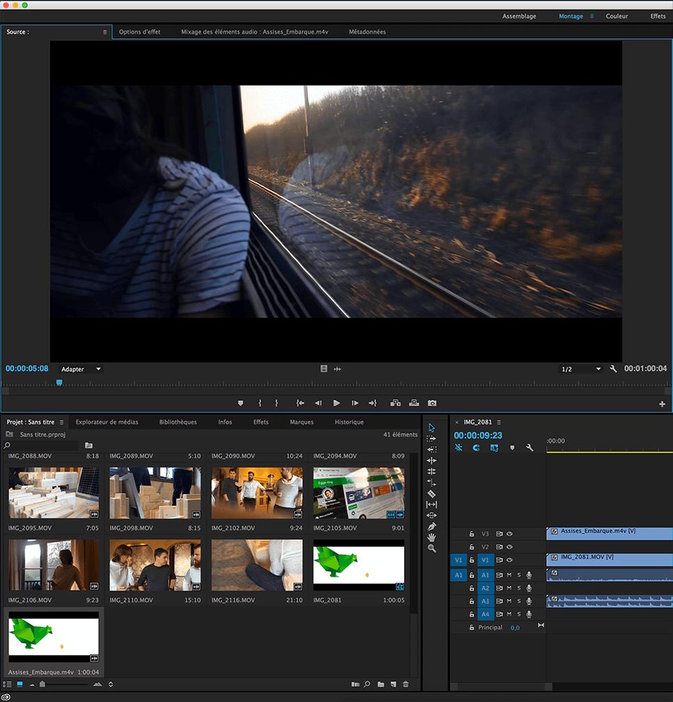 Montage vidéo à Amiens