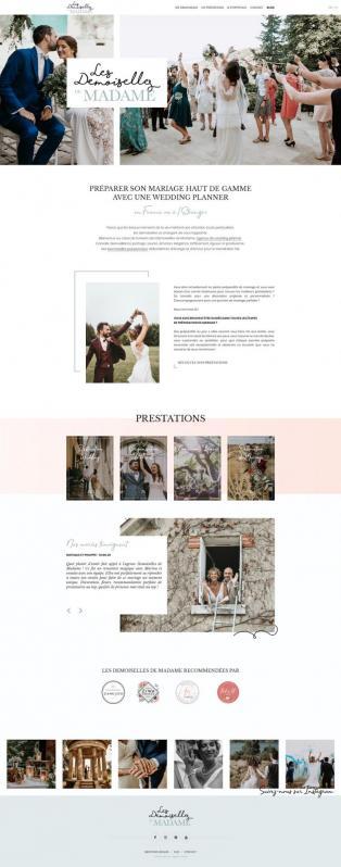 Maquette site web Demoiselles de Madame