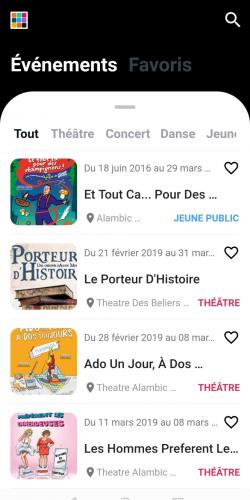 Nouvelle version appli agenda culturel