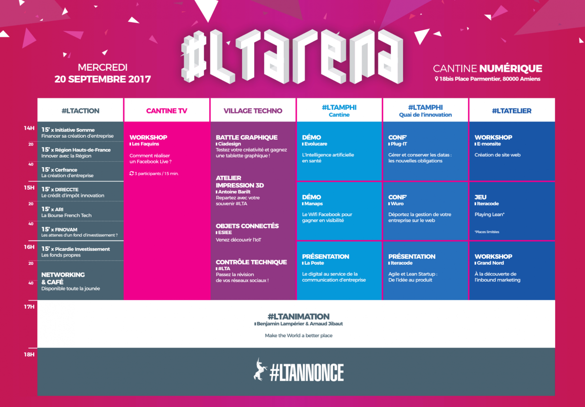 Programme #LTARENA