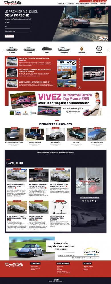 Refonte site flat6 magazine
