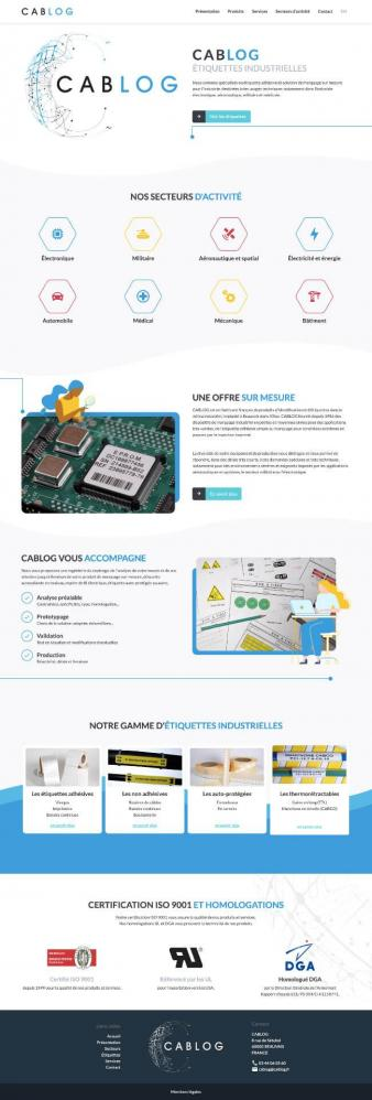 Refonte site web cablog