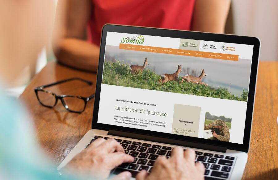 Refonte site web federation chasseurs somme