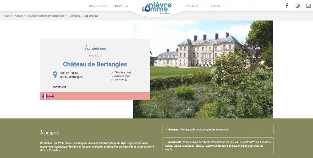 Site web office tourisme nievre somme