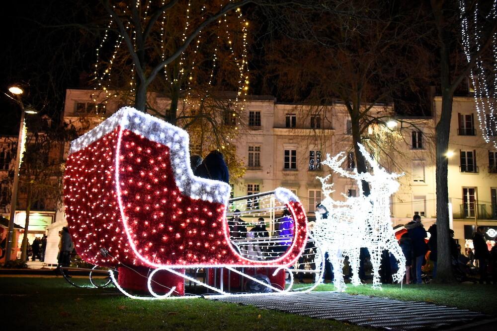 Traineau - Marché de Noël d'Amiens