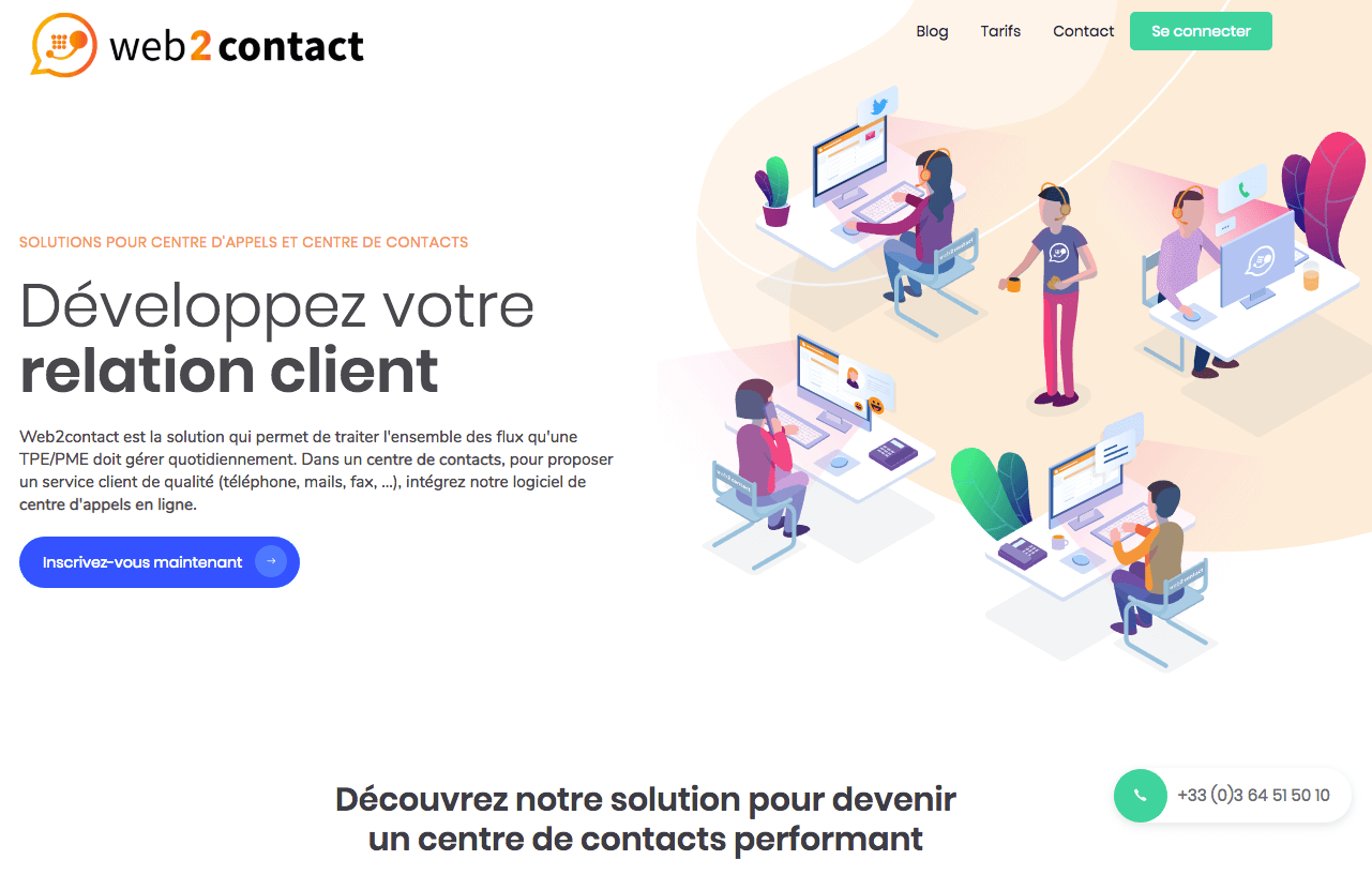 Web2contact logiciel de phoning